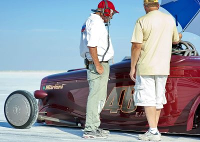 Talkin' to the starter at the line in Bonneville